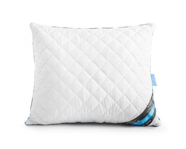 Kussen Sleeptime Dynamic, De vulling bestaat uit holle vezels en de tijk bestaat uit 100% plukkatoen. Dit voelt zacht en luxe aan. Kleur wit, maat 60 x 70 cm