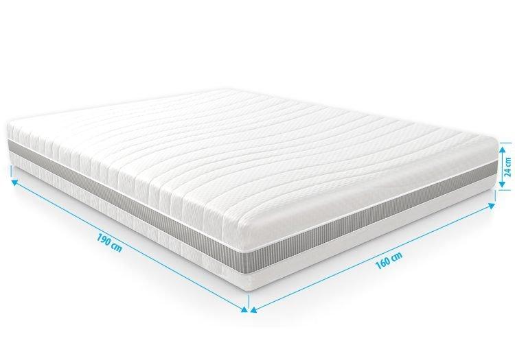 Pocketvering matras 7 Comfort Optimum 160x190 dikte 24cm