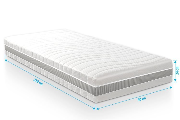 Pocketvering matras 7 Comfort Maxim 90x210 dikte 24cm