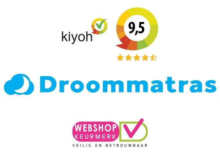 Droommatras raiting&logo